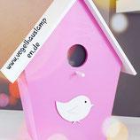 Vogelhauslampe pink
