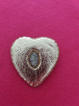 Goldwork Heart Brooch