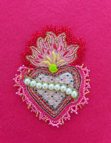 Enlighted Heart Brooch/ Appliqué