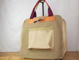 Oynts Garment Bag(Khaki×Brown)