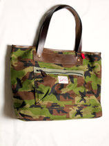 THE WONDER LUST× Oynts Sports Tote Coupe(CAMO×BROWN LEATHER)
