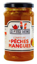 6 Confiture Pêches-Mangues pot de 265 gr - France