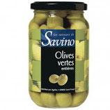 12 Olives vertes entières Savino 37 cl
