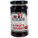 6 Confiture 4 fruits rouges pot de 265 gr