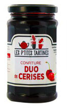 6 Confiture duo de Cerise pot de 265 gr - France
