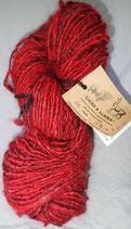 Turkey Red with Red Locks and Llama yarn
