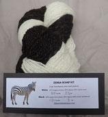 Zebra Scarf kit with pattern + yarn