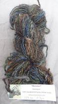 """Munster"" Earth colors handpainted mohair lock yarn"