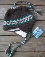 Below Zero Hat -Black w/green & tan