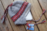 Below Zero Hat -Silver w/red and black