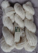 """""""Cleo and Emmy"""" white 1 ply  handspun"""