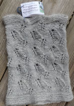 """Silver Mist """"Burnished Leaves"""" lace cowl"""