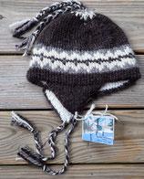 Below Zero Hat -Black w/gray & white