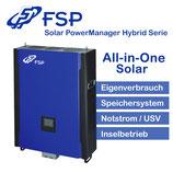 FSP 5,0 kW Hybrid-Wechselrichter ( 1 phasig) 48V + E-Meter; ModBus Card & ModBus Box