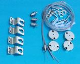 Abängeset mit 4 Drahtseilen für LED Panels in 30x30 30x60 60x60 62x62