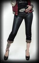 Black Capri Jeans - Leopatch