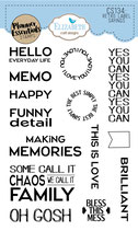 Retro Labels - Teksten - Clear stamps