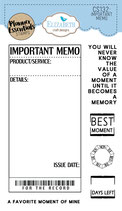 *NEW* Important Memo  - Clear stamps