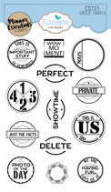 Circle Labels Vintage style