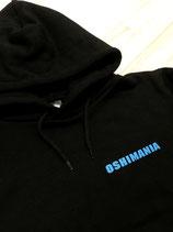 KO_オリジナルパーカー_Oshimania(BLACK)蛍光ブルー