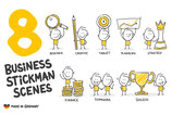 8 Business Strichfiguren