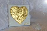 Herz in 24 Karat Blattgold