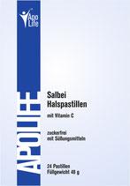 ApoLife Salbei Halspastillen 24 Stk.