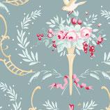 Tilda - Old Rose - Birdsong Teal-green