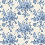 Tildastoffe Cottage Botanical Blue