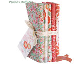Tilda Lazy Days   - Fat Quarter Bundle   Coral