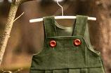 Cord-Latzkleid - waldgrün