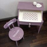 """Kindertisch mit Stuhl """"Prinzessin"""""""