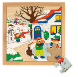 EDUCO Jahreszeiten Puzzle klein