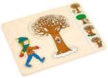 EDUCO Jahreszeiten-Puzzle in 4 Schichten