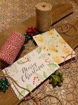 Postkarten Orangen und Merry Christmas