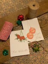 "Postkarten ""Jingle Bells"" und ""Hagebutten"""