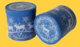 Sammlerdose Elch blau, gefüllt mit 5 leckeren Elisen-Lebkuchen