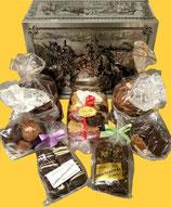 Sammlertruhe Ritter, gefüllt mit Köstlichkeiten aus unserer Lebküchnerei