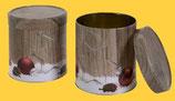 Sammlerdose Holzdekor, gefüllt mit 5 leckeren Elisen-Lebkuchen