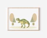 Dinosaurier Rex illustration, Druck