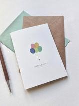 Grußkarten / klappkarte Luftballons -  Happy Birthday -