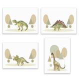 Dino Set - Kunstdruck