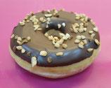 Donut chocolade-pinda