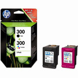 Pack HP 300 Noire et Tri Color