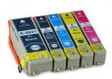 Compatibles Epson T26 XL Noire, Noire photo, Cyan, Magenta et Jaune