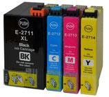 Compatibles Epson T27  Noire  XXL,  Cyan XL, Magenta XL et Jaune XL