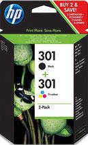 Pack HP 301 Noire et Tri Color