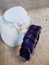Flechtarmband, geflochtenes Lederarmband, Nappa-Leder, dunkles Lila (Flecht7)