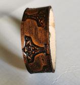 LEDER Armband punziert Thors Hammer (Glattleder) (RLA3)