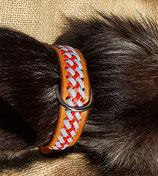 Hundehalsband mit 2 farbiger Flechtung (HH 29)